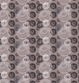 Scribbled circles big and small on brown vector image vector image