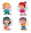 Children Boys and girls vector image