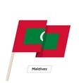 Maldives Ribbon Waving Flag Isolated on White vector image