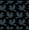 Seamless pattern doves vector image