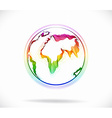 Globe color abstract vector image