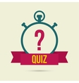Timer with a question vector image vector image