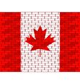 canadian brick wall vector image vector image