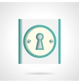 Door lock flat icon vector image vector image