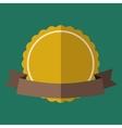 Yellow vintage badge vector image vector image