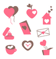valentines love icons vector image