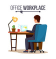 office workplace concept business man or vector image