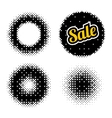 Set of abstract halftone vector image