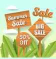 summer sale paper cut out banner with labels vector image