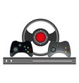 Video games controller set vector image