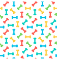 Colorful bones seamless pattern background vector image