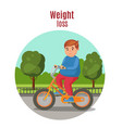 weight loss colorful concept vector image