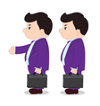 Boss go to working vector image vector image