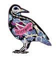 Colorfull cool crow vector image