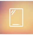 Gadget thin line icon vector image