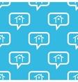 Cottage message pattern vector image