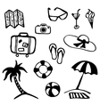 Travel and vacation summer icon collection vector image
