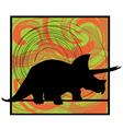 Abstract Dinosaur vector image