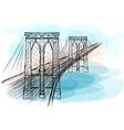 brooklyn bridge vector image
