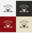 butcher shop icon butcher shop logo vector image