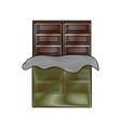 chocolate bar icon vector image