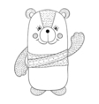 Funny bear children animal for book t-shirt print vector image
