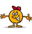 mister ball cartoon character vector image
