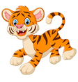 playful tiger cartoon vector image