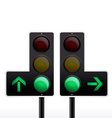 Isolated traffic light vector image vector image