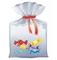 A pouch bag of sweets vector image vector image