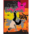 Stylized breakdance illustration vector image