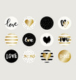 valentine39s day sticker designs vector image