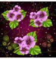 Seamless dark floral pattern vector image