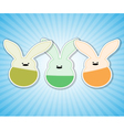 rabbit blue vector image