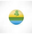 eco compani icon vector image