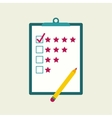 Tablet paper to the rating vector image