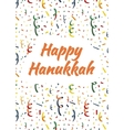 Happy Hanukkah card with exploding party popper vector image
