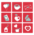 valentines love icons vector image vector image