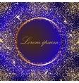 Golden splash or glittering spangles round frame vector image