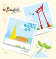 bangkok thailand place landmark travel temple wat vector image