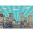 City in retro style vector image