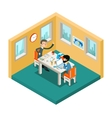 Creative collaboration Businessmen team working vector image