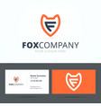 Logo and business card template vector image