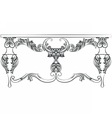 Rich Baroque Table vector image