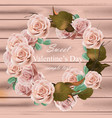 rose flowers wreath realistic delicate vector image