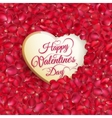 Rose petals heart EPS 10 vector image