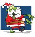 Santa Claus Zombie vector image