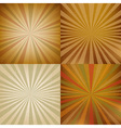 Vintage Sunburst Backgrounds Set vector image
