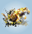 Abstract of a leaping tiger vector image
