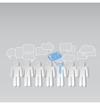 Business news team leader teamwork communication vector image vector image